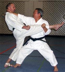 Eugen Landgraf Sensei und Bundestrainer Akio Nagai (rechts)